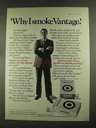 1972 Vantage Cigarettes Ad - Why I Smoke