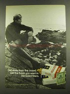 1972 Old Gold Cigarettes Advertisement - Get Away