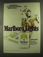 1972 Marlboro Lights Cigarettes Ad - America's Low Tar