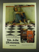 1972 L&M Cigarettes Ad - This is the Moment - Tile after Tile