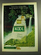 1972 Kool Cigarettes Ad - Come All the Way Up