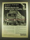 1972 Studebaker-Worthington Wagner Electric Corp. Ad