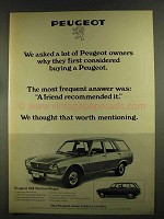 1972 Peugeot 504 Station Wagon Ad - We Asked Owners