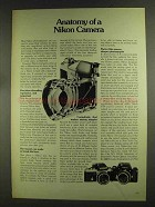 1972 Nikon Cameras and Lenses Ad - Anatomy Of