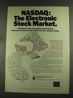 1972 NASDAQ Ad - The Electronic Stock Market - Split-Second Prices