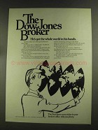 1972 The Dow Jones Ad - Whole World in Hands