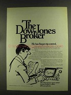 1972 The Dow Jones Ad - Finger-Tip Control