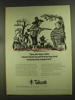 1972 Talcott Business Finance Ad - Now See Here, Mister