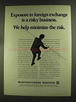 1972 Manufacturers Hanover Ad - Foreign Exchange