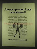 1972 Manufacturers Hanover Ad - Pension Funds