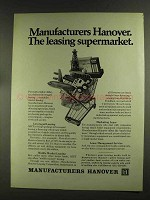 1972 Manufacturers Hanover Ad - Leasing Supermarket