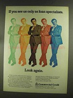 1972 Commercial Credit Business Services Ad, Look Again