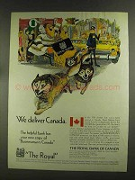 1972 The Royal Bank of Canada Ad - We Deliver