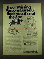 1972 Carte Blanche Ad - Our Missing Persons Bureau