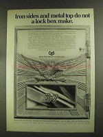 1972 C&S Bank Ad - Iron Sides and Metal Top Lock Box