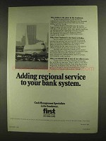 1972 First National Bank in Dallas Ad, Regional Service