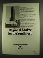 1972 First National Bank in Dallas Ad - For Southwest