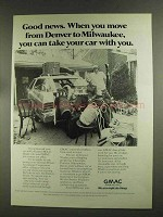 1972 GMAC Financing Ad - Good News When You Move