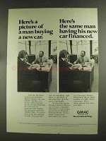 1972 GMAC Financing Ad - Picture of Man Buying New Car