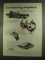 1972 GMAC Financing Ad - Car Financing Simplified