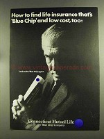 1972 Connecticut Mutual Life Ad - Blue Chip Low Cost