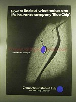 1972 Connecticut Mutual Life Ad - What Makes Blue Chip