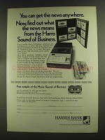 1972 Harris Bank Ad - Get The News Anywhere