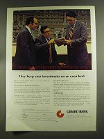 1972 Girard Bank Ad - Keep Investments on Even Keel
