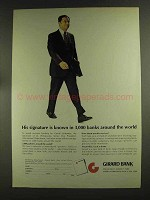 1972 Girard Bank Ad - His Signature is Known