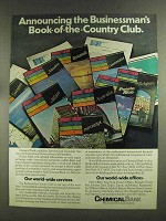 1972 Chemical Bank Ad - Book-of-the-Country Club