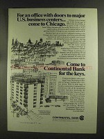 1972 Continental Bank Ad - Major Business Centers