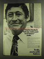 1972 Safeco Insurance Ad - Charles Voelkel's Smile