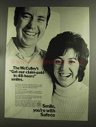 1972 Safeco Insurance Ad - McCulley's Smiles