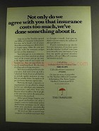 1972 Travelers Insurance Ad - We Agree With You