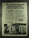 1972 Allstate Insurance Ad - Can Save Money On
