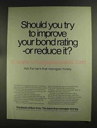 1972 The Bank of New York Ad - Try To Improve
