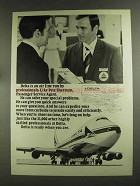 1972 Delta Airlines Ad - Pete Sherman, Agent