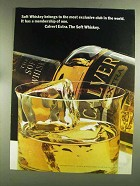1972 Calvert Extra Whiskey Ad - Most Exclusive Club