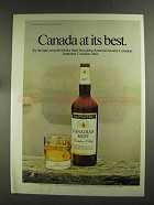 1972 Canadian Mist Whisky Advertisement - At Its Best