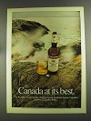 1972 Canadian Mist Whisky Ad - At Its Best