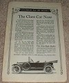 1914 Hudson Six-40 Car Ad, The Class Car Now!