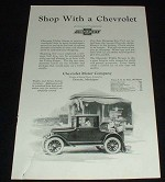1923 Chevrolet Utility Coupe Ad, Shop!!