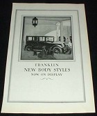 1923 Franklin Car Ad, Body Styles on Display!