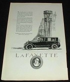 1923 Lafayette Car Ad, Economy of Quality!!