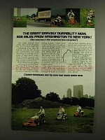 1972 Gravely Lawn Mowers Ad - Durability Mow