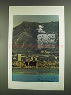 1972 Utah Tourism Ad - This is the Place