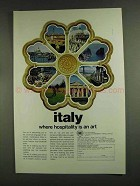 1972 Italy Tourism Ad - Hospitality is an Art