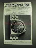 1972 Bulova Accutron Date/Day BD Watch Ad