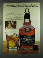 1972 Seagram's Benchmark Bourbon Ad - Years Picking