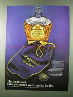 1972 Seagram's Crown Royal Ad - The Purple Sack